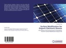 Capa do livro de Surface Modification for Organic Electronic Devices