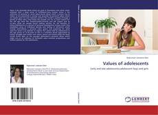 Bookcover of Values of adolescents