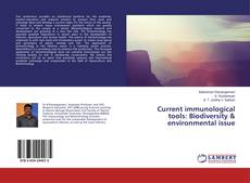 Capa do livro de Current immunological tools: Biodiversity & environmental issue