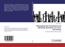 Обложка Managing the Persistence of Minority Students at a U.S. University