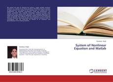 Buchcover von System of Nonlinear Equation and Matlab