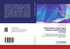 Bookcover of Реальная структура тонких кристаллов селена