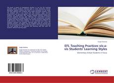 Capa do livro de EFL Teaching Practices vis-a-vis Students' Learning Styles