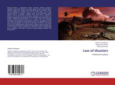 Bookcover of Law of disasters