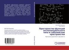 Bookcover of Пространства функций экспоненциального типа и соболевские пространства