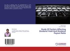 Portada del libro de Study Of Factors Affecting Dividend Yield And Dividend Payout Ratio