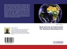 Rule of Law as Instrument for National Development kitap kapağı