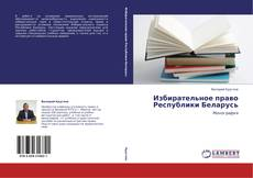 Bookcover of Избирательное право Республики Беларусь