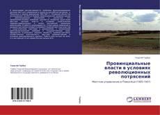 Portada del libro de Провинциальные власти в условиях революционных потрясений
