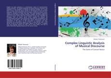 Обложка Complex Linguistic Analysis of Musical Discourse