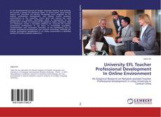 Bookcover of University EFL Teacher Professional Development In Online Environment