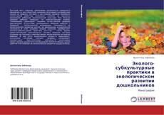 Bookcover of Эколого-субкультурные практики в экологическом развитии дошкольников