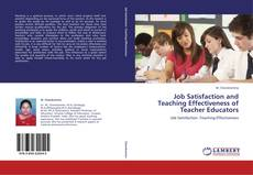 Buchcover von Job Satisfaction and Teaching Effectiveness of Teacher Educators