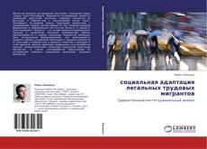 Capa do livro de социальная адаптация легальных трудовых мигрантов
