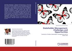 Stakeholder Management- Challenges and Opportunities kitap kapağı