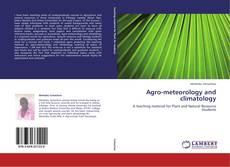 Capa do livro de Agro-meteorology and climatology