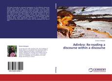 Buchcover von Adinkra: Re-reading a discourse within a discourse
