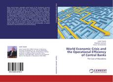 Couverture de World Economic Crisis and the Operational Efficiency of Central Banks