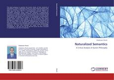Bookcover of Naturalized Semantics
