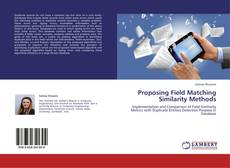 Buchcover von Proposing Field Matching Similarity Methods