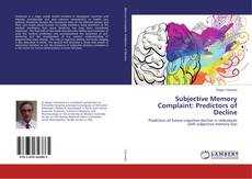 Buchcover von Subjective Memory Complaint: Predictors of Decline