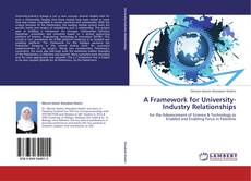 Обложка A Framework for University-Industry Relationships