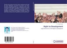 Buchcover von Right to Development