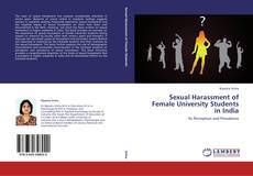 Bookcover of Sexual Harassment of Female University Students in India