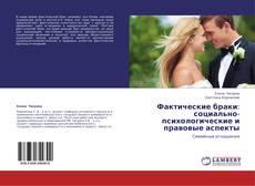 Bookcover of Фактические браки: социально-психологические и правовые аспекты