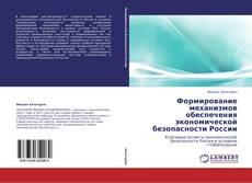 Обложка Формирование механизмов обеспечения экономической безопасности России