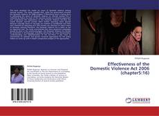 Portada del libro de Effectiveness of the Domestic Violence Act 2006 (chapter5:16)