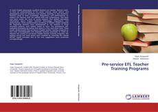 Portada del libro de Pre-service EFL Teacher Training Programs