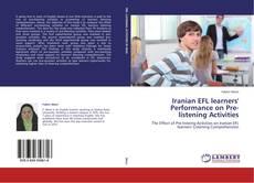 Обложка Iranian EFL learners' Performance on Pre-listening Activities