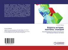 Bookcover of Бораты иттрия, лантана, скандия