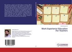 Bookcover of Work Experience Education For Teachers