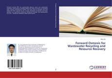 Portada del libro de Forward Osmosis for Wastewater Recycling and Resource Recovery