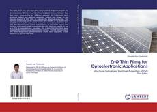 Portada del libro de ZnO Thin Films for Optoelectronic Applications