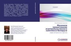 Bookcover of Механизм кредитования агропромышленного комплекса Беларуси