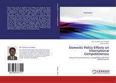 Portada del libro de Domestic Policy Effects on International Competitiveness