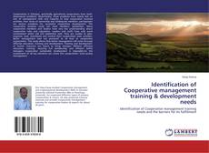 Bookcover of Identification of Cooperative management training & development needs