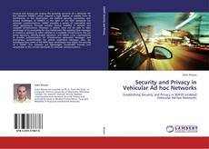 Capa do livro de Security and Privacy in Vehicular Ad hoc Networks