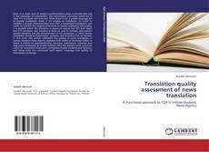Copertina di Translation quality assessment of news translation
