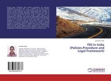 Buchcover von FDI in India (Policies.Procedure and Legal Framework)