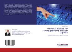 Buchcover von Universal method for solving problems of linear algebra
