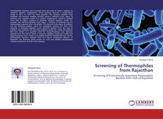Bookcover of Screening of Thermophiles from Rajasthan