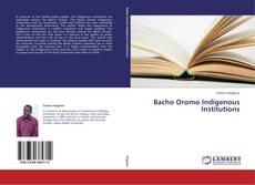 Portada del libro de Bacho Oromo Indigenous Institutions
