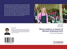 Portada del libro de Micro-credit as a means of Women Empowerment