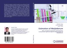 Bookcover of Estimation of Molybdenum