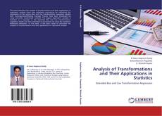 Capa do livro de Analysis of Transformations and Their Applications in Statistics