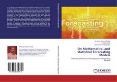 Обложка On Mathematical and Statistical Forecasting Models